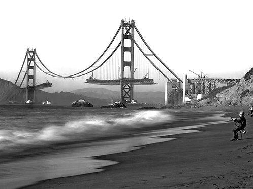 Golden Gate Bridge Under Construction in 1936