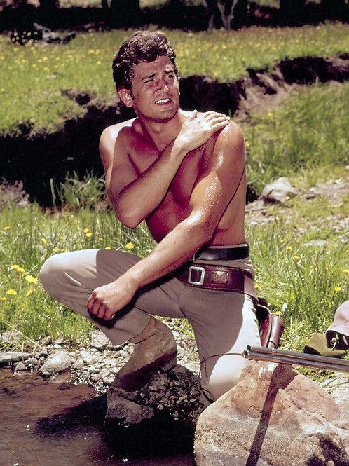 Shirtless Michael Landon at the Creek