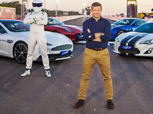 Bulging Dermot O'Leary at the Track