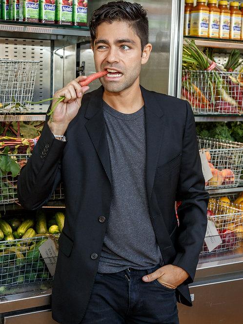 Adrian Grenier Munching on a Carrot