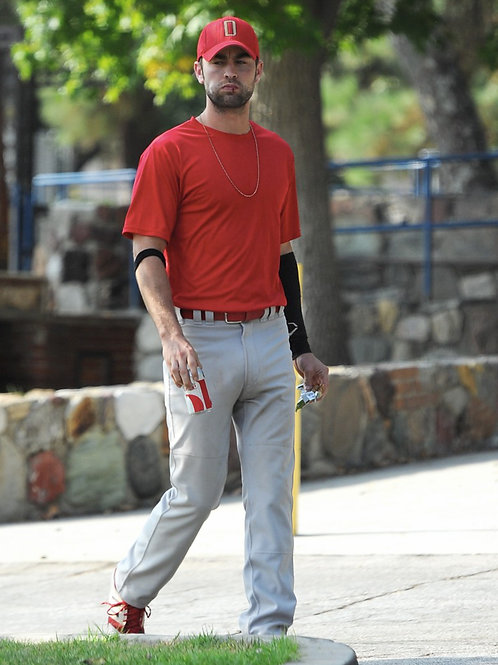 Chace Crawford in his Baseball Uniform