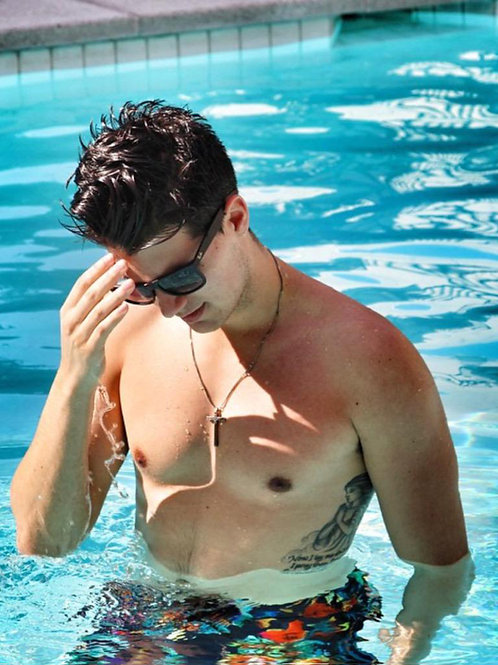 Christian Delgrosso in the Pool