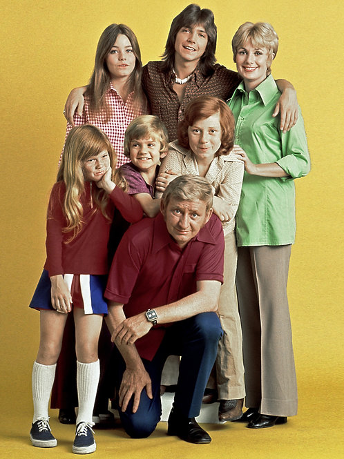 Cast of the Partridge Family with David Standing on a Box