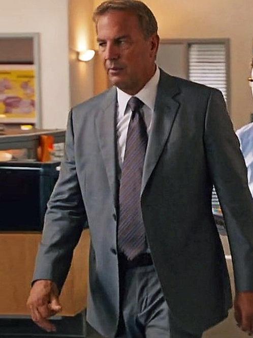 Kevin Costner Bulging in Grey Suit Pants