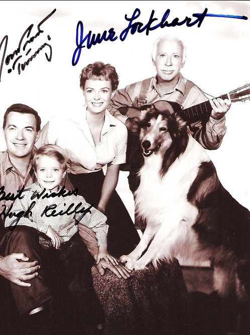 Huge Reilly, Jon Provost as Timmy, And June Lockhart in Lassie