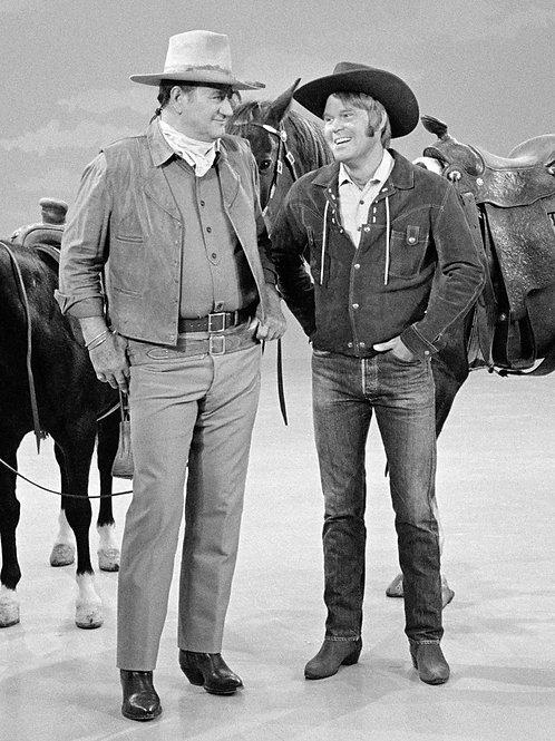 Glen Campbell with John Wayne