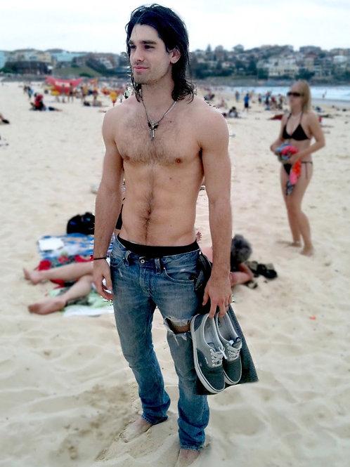 Justin Gaston at the Beach