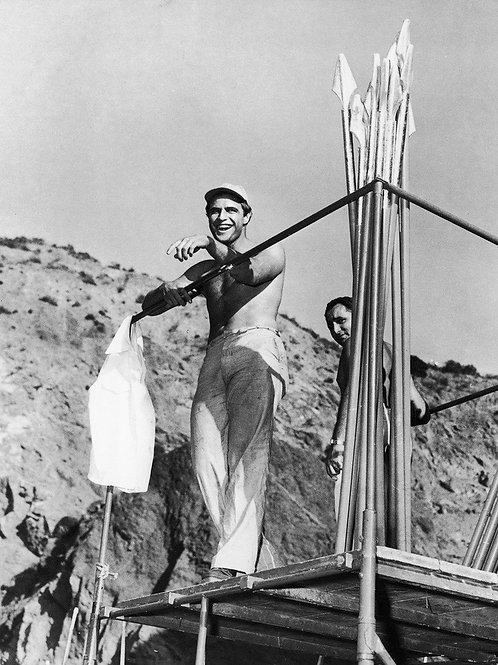 Marlon Brando Shirtless as a Sailor