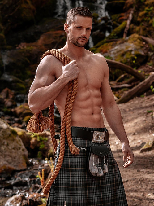 Ripped Man Wearing a Kilt