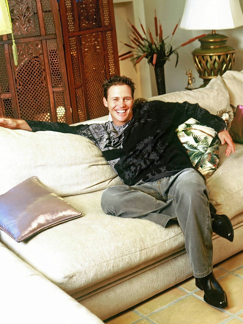 Brian Krause Relaxing on the Sofa