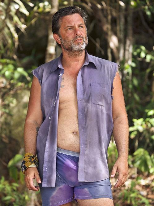 Jeff Varner From Survivor Bulging in Purple Shorts