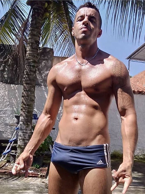 Arroused in his Swimsuit