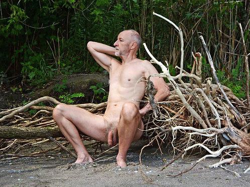 Sitting on Tree Roots