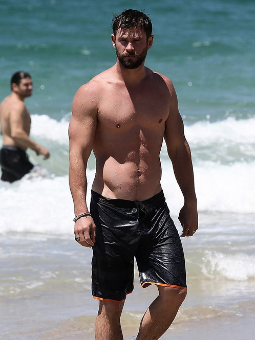 Chris Hemsworth at the Beach All Wet