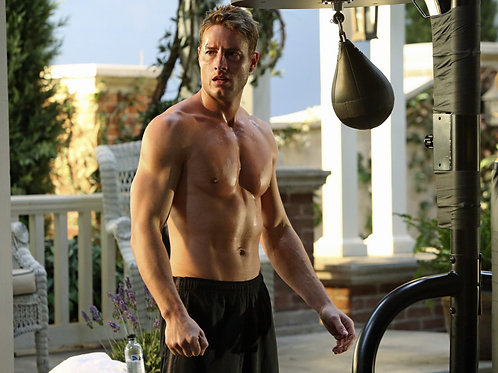 Justin Hartley Shirtless Working Out