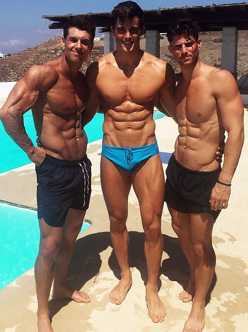 3 by a Pool
