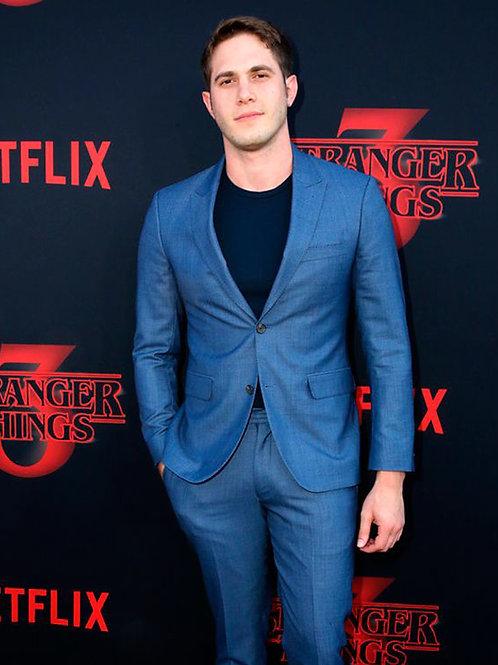 Blake Jenner Wearing a Blue Suit