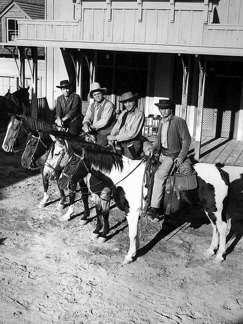 Cast of Bonanza on Horseback