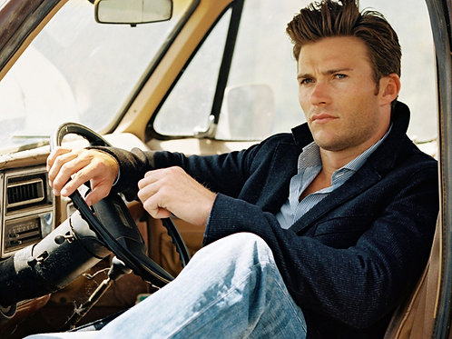 Handsome Scott Eastwood in a Truck