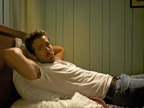 Ryan Reynolds Laying in Bed