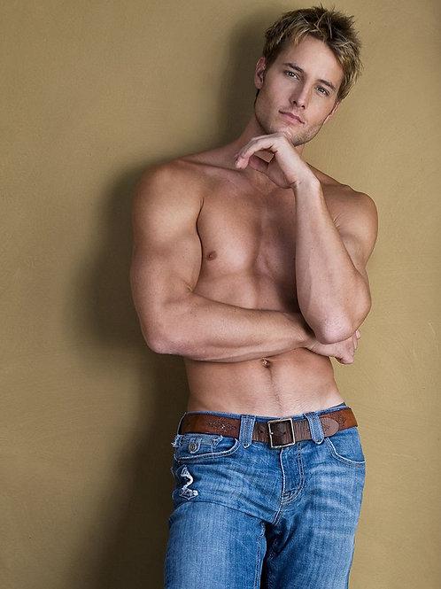 Justin Hartley Shirtless Wearing Jeans