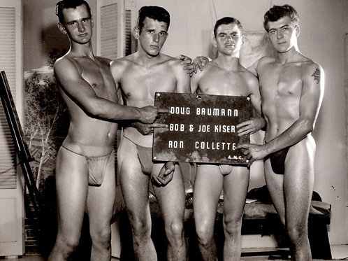 4 Vintage Man Hunks