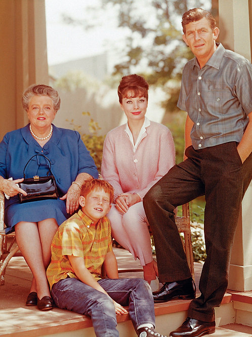 Cast of the Andy Griffith Show Posing on the Porch