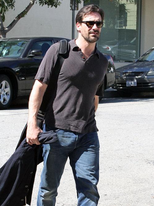 Jon Hamm Crossing a Street