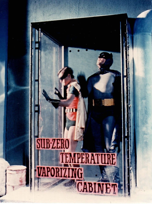 Batmans Adam West & Burt Ward Caught In Mr Freezes Trap