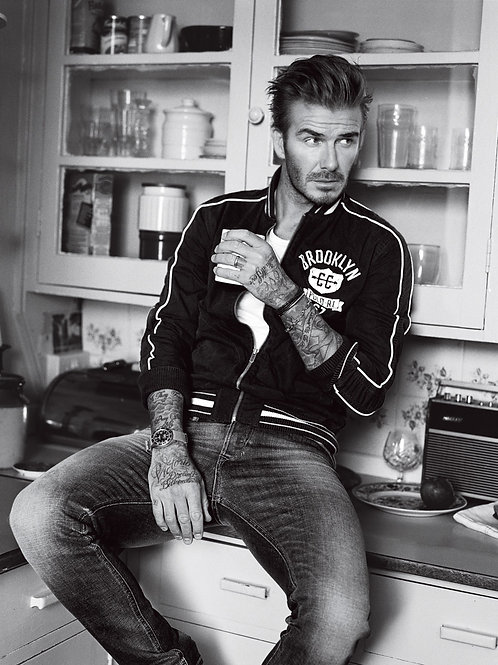 David Beckham Sitting on the Counter