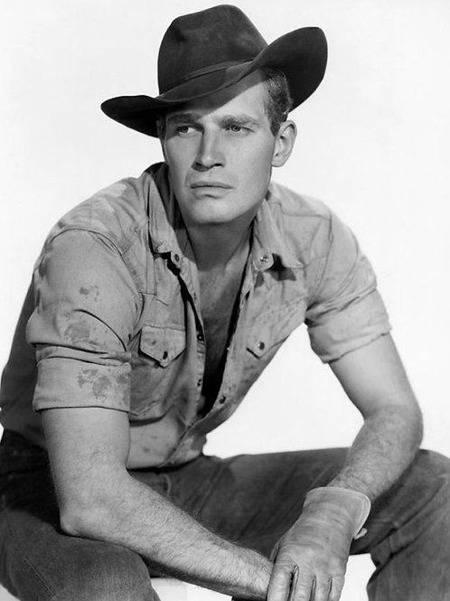 Charlton Heston as a Cowboy