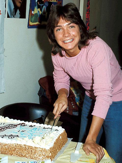 David Cassidy Cutting his Birthday Cake