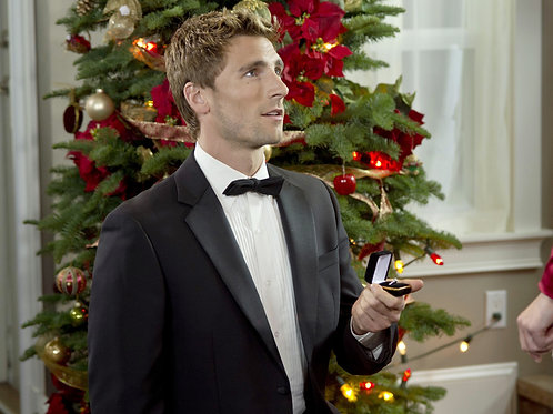 Andrew W. Walker on his Knees at Christmas Proposing
