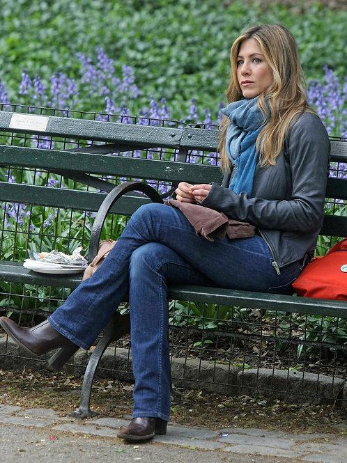 Jennifer Aniston Sitting on a Park Bench