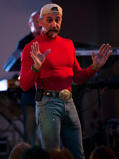 Aaron Tippin Showing a LARGE Package