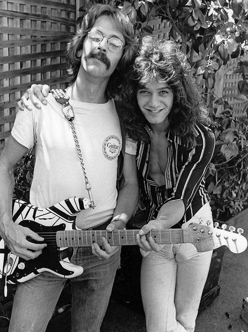 Jas Obrecht Posing with Eddie Van Halen in 1978