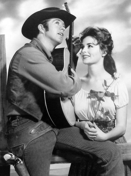 Clu Gulager & Marianna Hill in The Tall Man