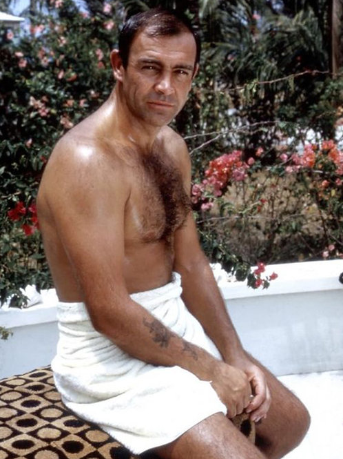 Sean Connery Sitting Outside Shirtless