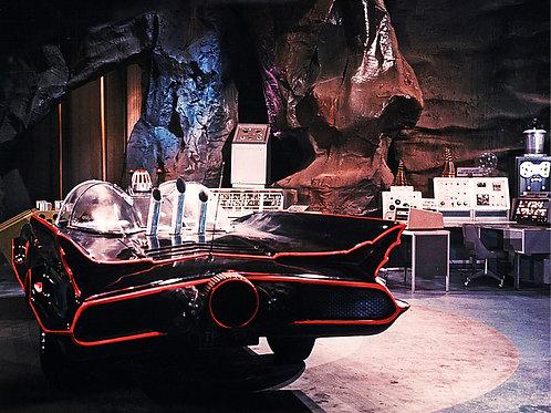 1966 TV Batmobile in the Bat Cave Rear View