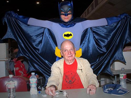 Adam West Behind Lorenzo Semple Jr. - the Creator of Batman