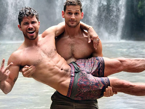 Max Emerson and Cheyenne Parker by the Falls