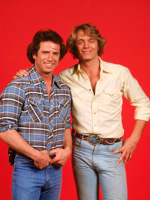 Bulging Tom Wopat Beside Hunky John Schneider