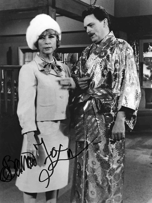 Agnes Moorehead & Bernard Fox in a Scene from Bewitched