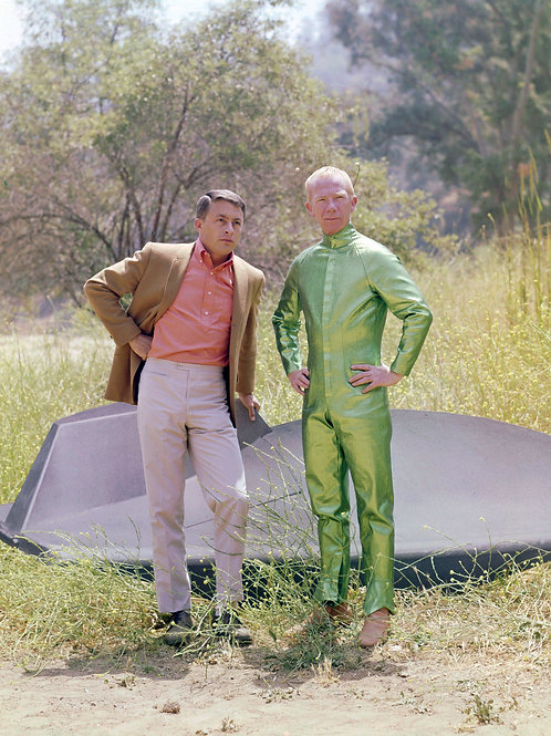 Bill Bixby & Ray Walston Posing with the Spaceship in My Favorite Martian
