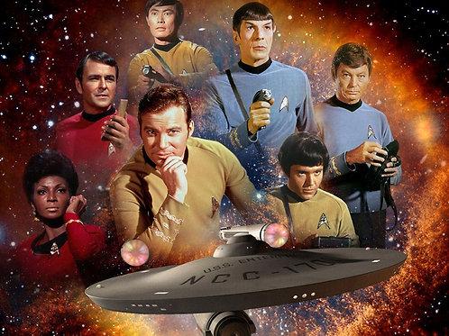 Original Star Trek Cast Collage