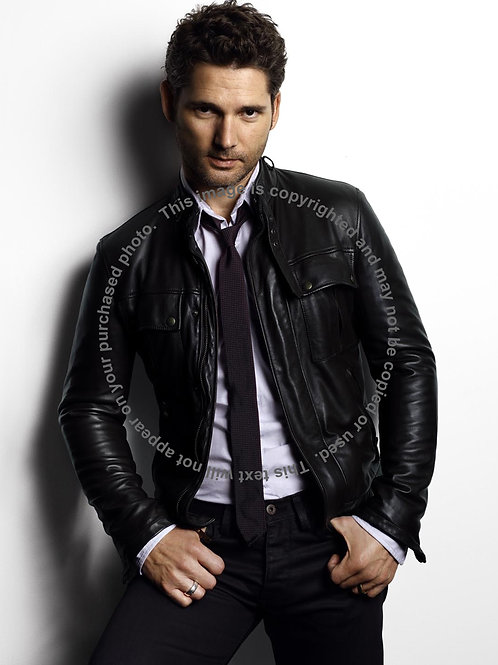 Eric Bana Wearing a Leather Jacket