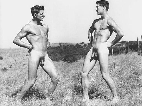 David Martin & Stan Reed in a Field