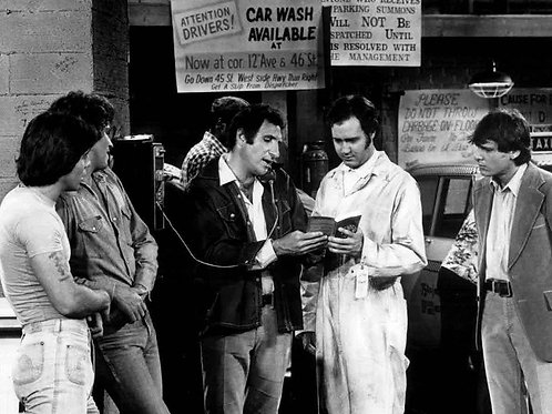 Cast of Taxi in the Garage