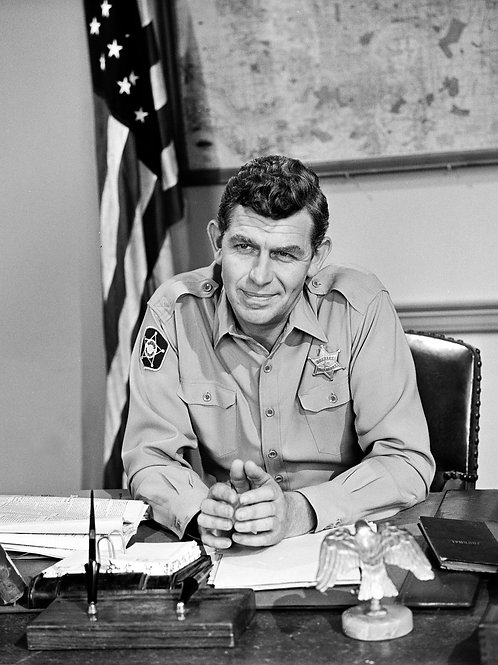 Andy Griffith as Sheriff Taylor Sitting at his Sherrifs Desk