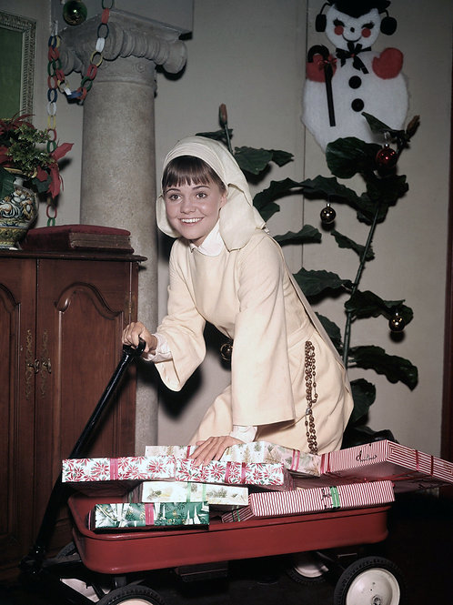 Sally Field as the Flying Nun with a Wagon Full of Christmas Gifts